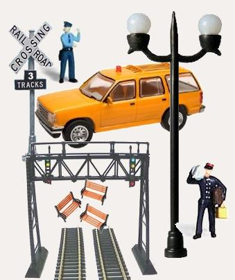 N scale model train accessories